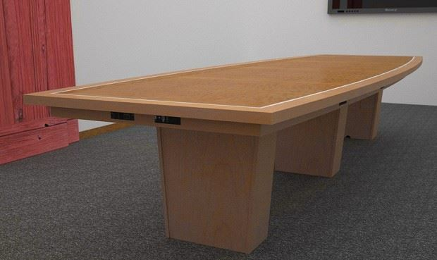 Custom Conference Tables Power Data Paul Downs - Conference table bases wood