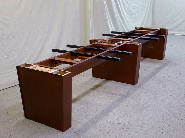 Conference table power data options paul downs cabinetmakets heres a typical 3 pedestal base with bridge units that both connect the pedestals and act as wire runs keyboard keysfo Choice Image