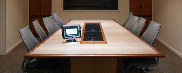 Custom Conference Tables Power Data Paul Downs - Conference table data boxes