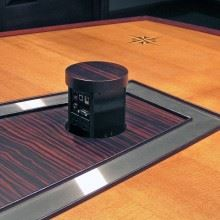 AC Lines Large Conference Table - Cherry and Ebony | Paul Downs