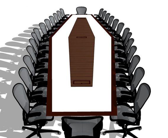 Anchorage Capital AV Walnut Boardroom Table