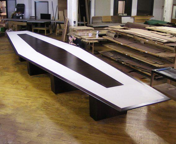 Anchorage Capital Contemporary Walnut Boardroom Table