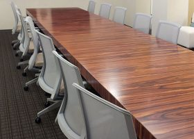 Atrion Rectangle Rosewood Conference Table