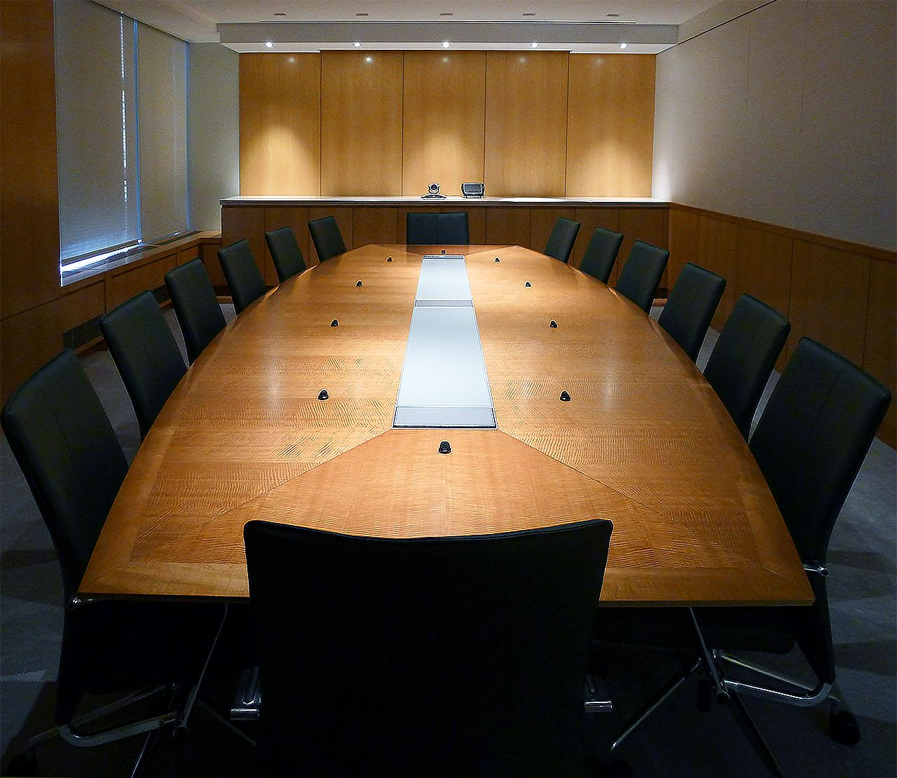 Shorenstein Boat Shaped Boardroom Table Paul Downs
