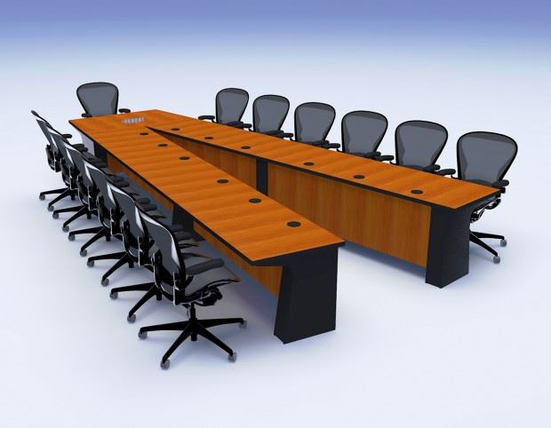 General Atomics Conference Table Paul Downs Cabinetmakers : VShapedConferenceTableGeneralAtomic1 620x482 from www.custom-conference-tables.com size 620 x 482 jpeg 47kB