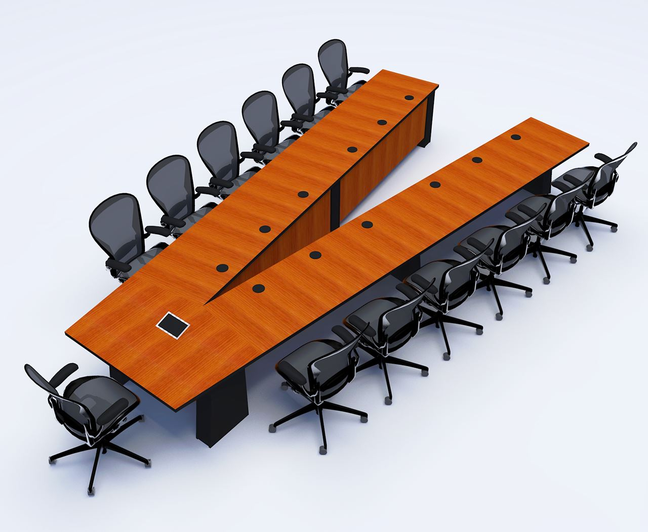 General Atomics Conference Table | Paul Downs Cabinetmakers