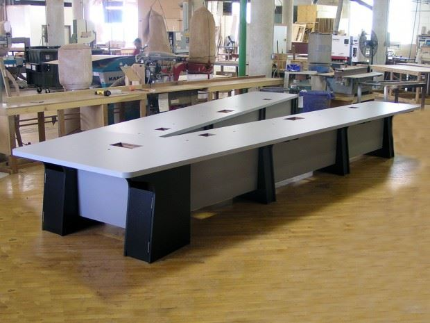 General Atomics V Shaped Conference Table Paul Downs