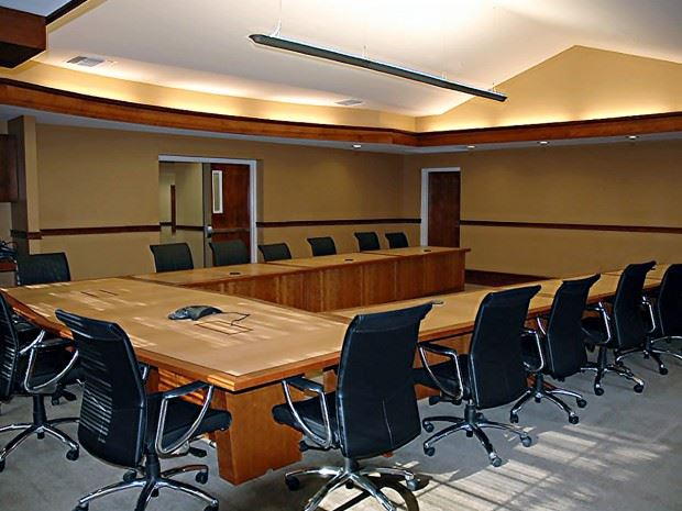 FCU UShaped Table Paul Downs Cabinetmakers - U shaped conference table designs
