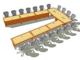 FCU U-Shaped Conference Table