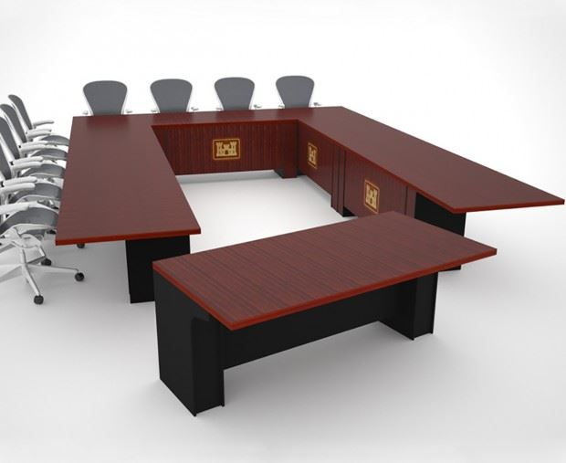 Corps of Engineers Modular Tables Paul Downs Cabinetmakers : BoardroomTableRENDERACoE1 620x507 from www.custom-conference-tables.com size 620 x 507 jpeg 35kB