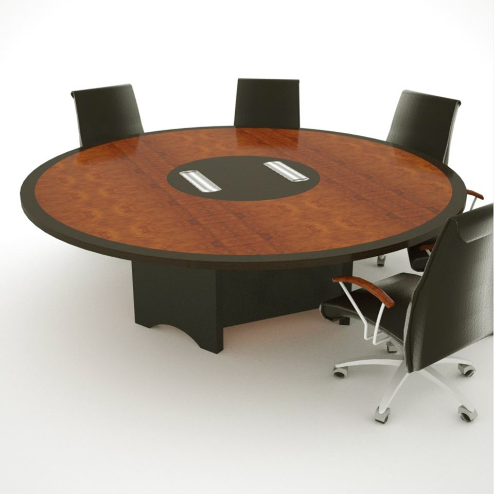 SWH 8 round conference table Paul Downs Cabinetmakers : BoardroomTableSWHRENDERTHUMB from www.custom-conference-tables.com size 960 x 960 jpeg 341kB