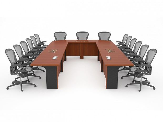 Tinker Air Force Table Paul Downs Cabinetmakers - U shaped conference table designs