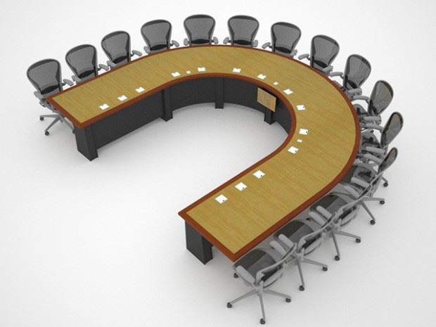 Lockheed Martin UShaped Table Paul Downs Cabinetmakers - U shaped conference table designs