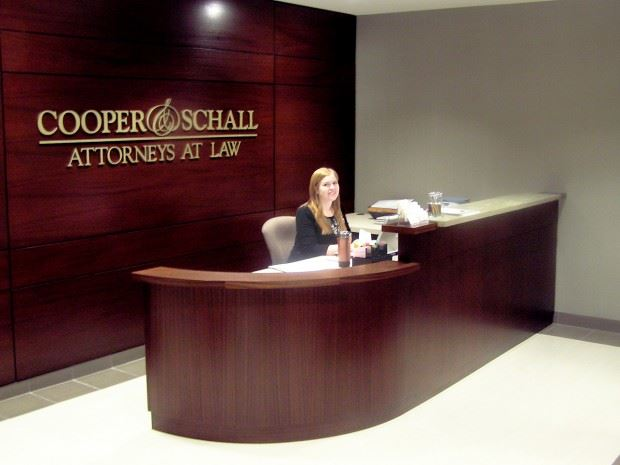 Cooper and Schall Reception Desk