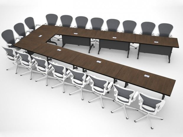 AGDIA Folding Modular Table Paul Downs Cabinetmakers : BoardroomTableModularRender AGDIA1 620x465 from www.custom-conference-tables.com size 620 x 465 jpeg 49kB