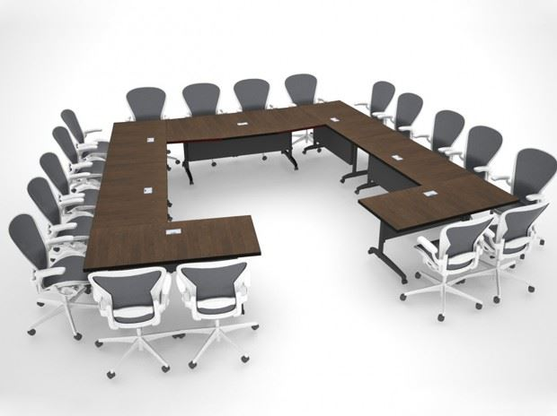 AGDIA Folding Modular Conference Table