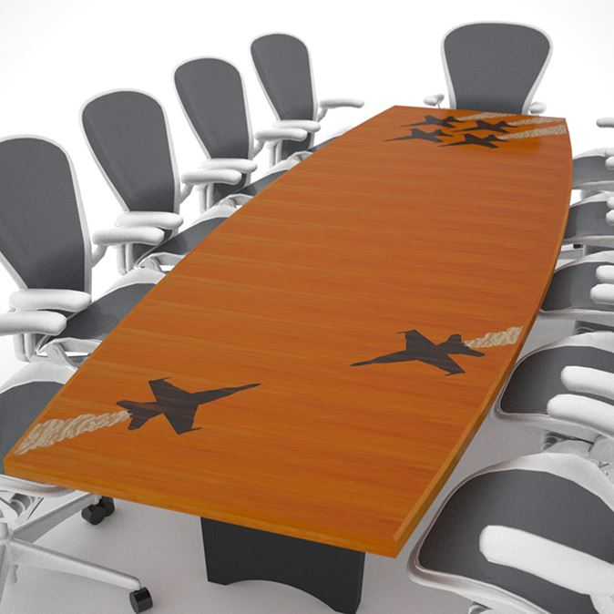 Blue Angels Modern Conference Room Table Paul Downs