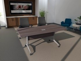 folding modular conference table