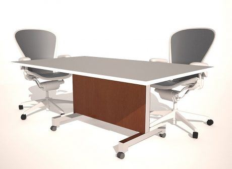 CMU Folding Conference Table Base