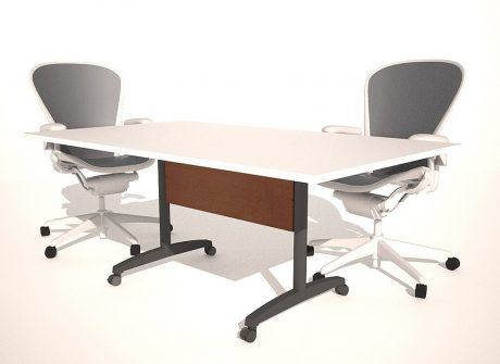Center Post Folding Conference Table Base