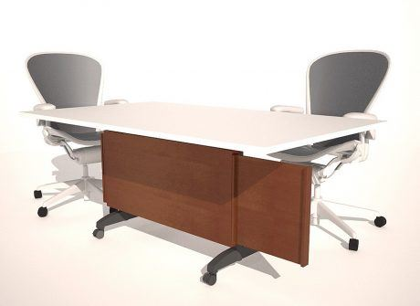 Extending Panel Folding Conference Table Base