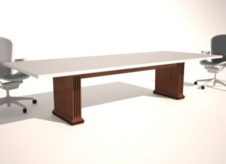 Fluted Box Conference Table Base