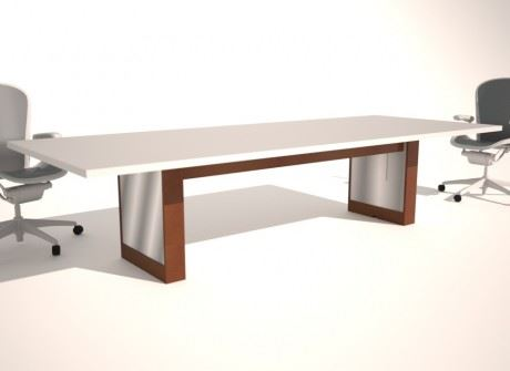 Stainless Faced Box Conference Table Base