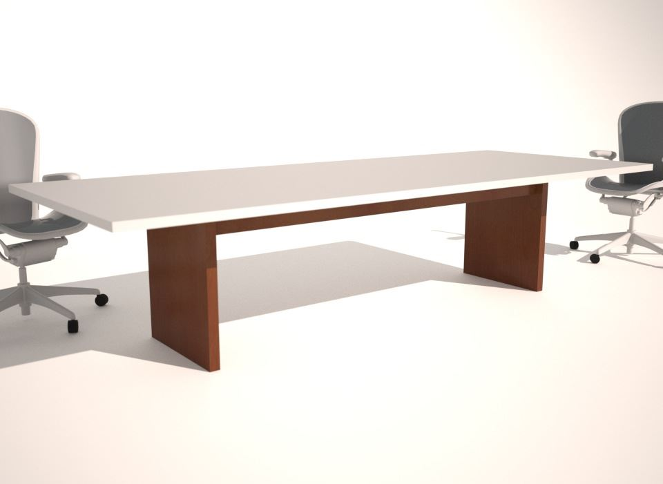 Straight Box Slim Conference Table Base