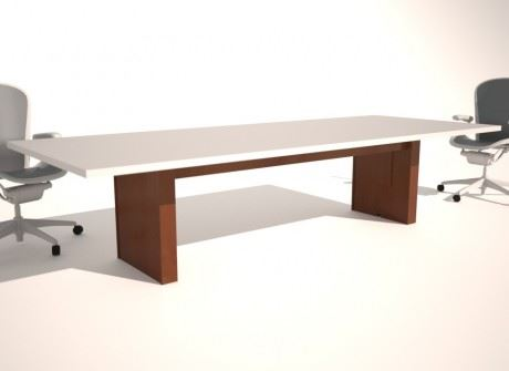 Straight Box Medium Conference Table Base