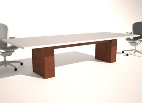 Straight Box Wide Conference Table Base