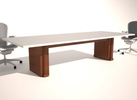 Straight Box with Columns Conference Table Base