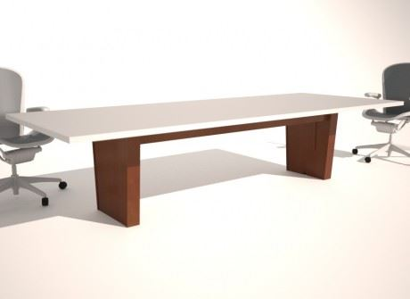 Tapered Box Medium Conference Table Base