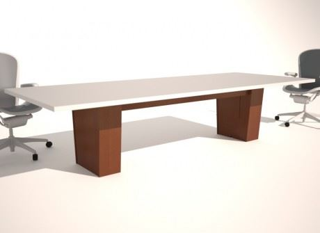 Tapered Box Wide Conference Table Base