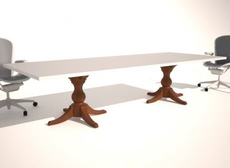 Turned Column Conference Table Base