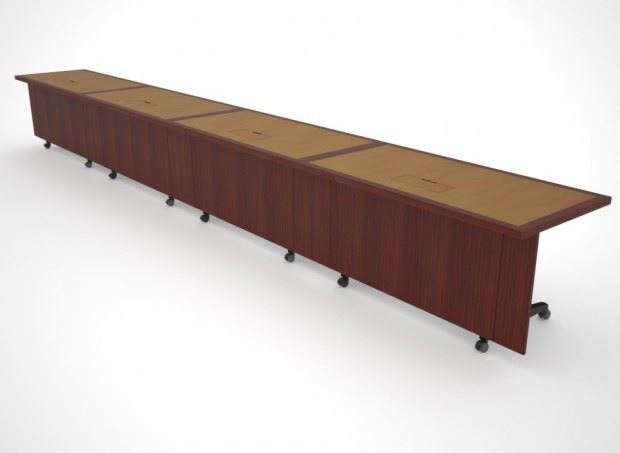 St Jude Folding Modular Table Paul Downs Cabinetmakers - Folding boardroom table