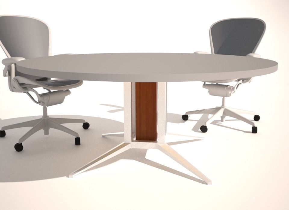 Conference Table Design Base Options Paul Downs - Round conference table for 4
