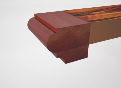 Astragal with Cove Conference Table Edge