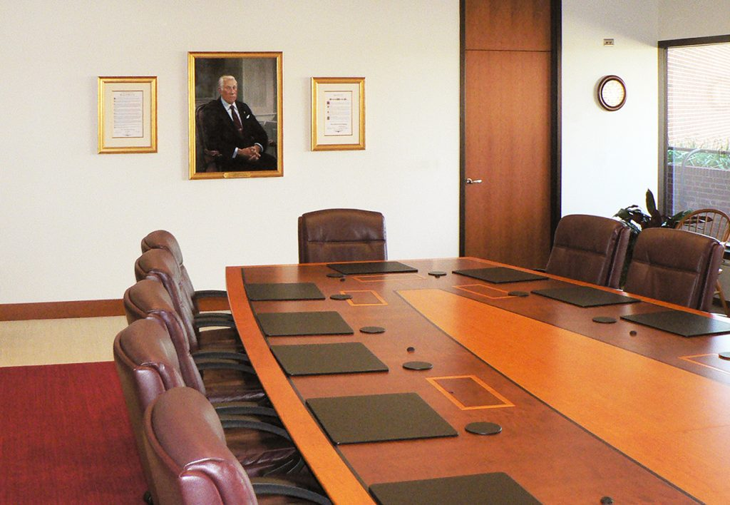 traditional conference room table