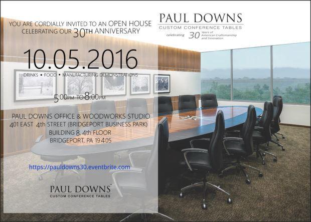Paul Downs 30th Anniversary Open House Invitation