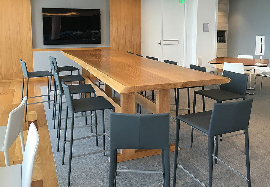 live edge conference table design