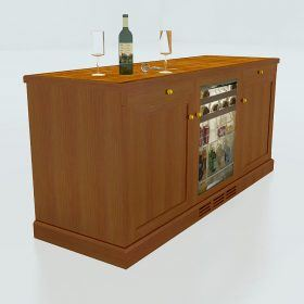 6′ Credenza w/ Fridge – Churchill