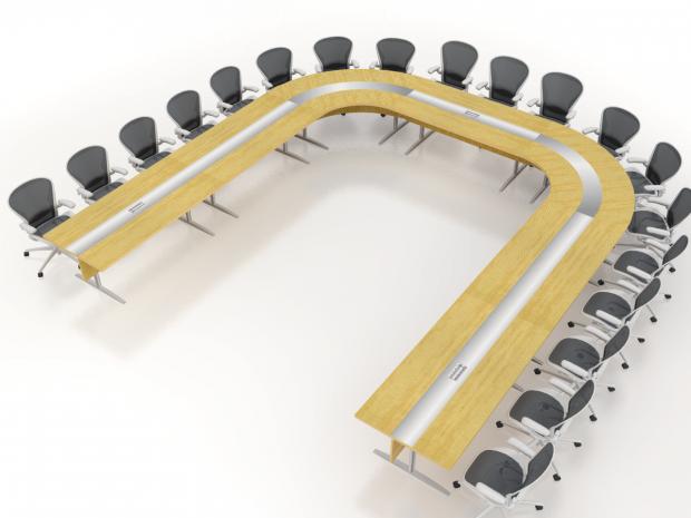 U shaped modular table