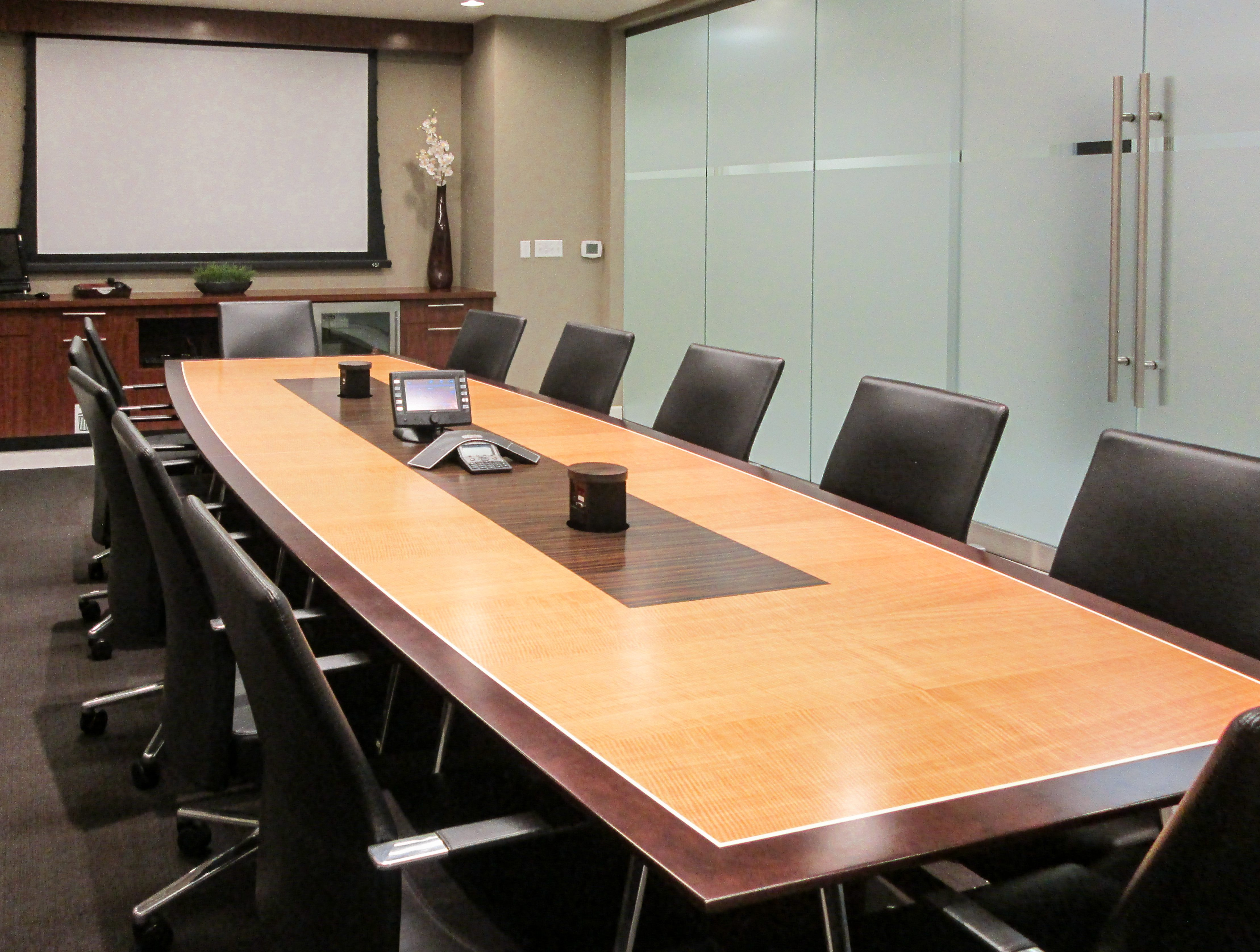 transitional boardroom table