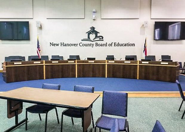 New Hanover School Board Arc Shaped Committee Table