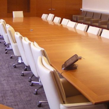 wood conference room tables