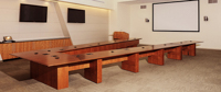v-shaped conference table