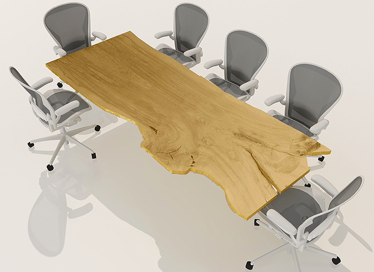 live edge conference table
