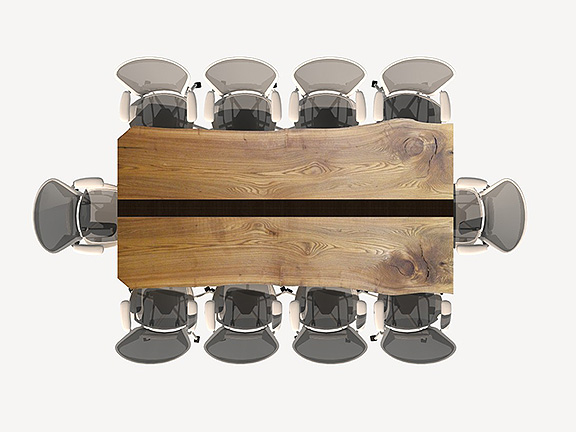 unique live edge conference table