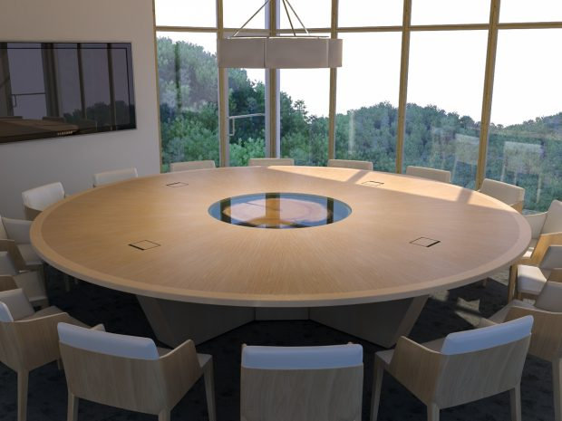 unique round conference table