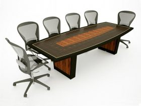 ebony conference table